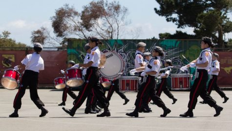 PHOTOS: Drum Corps beats its way to #1 at spring competition