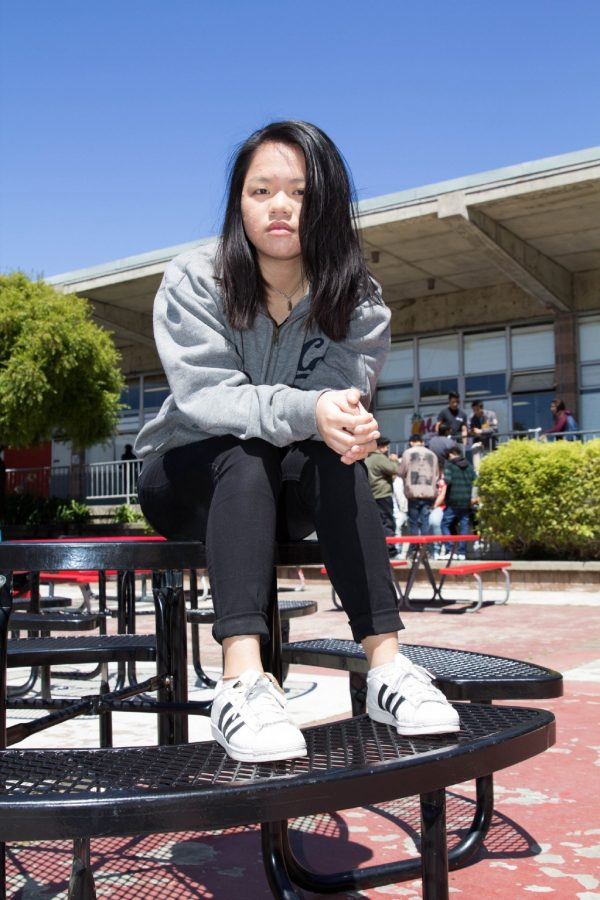 Junior+Giping+Huang+shares+how+she+learns+of+her+individuality+through+other+students.