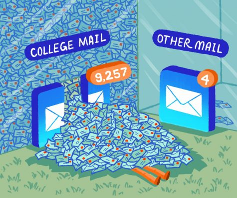 EDI CARTOON: College mail can be overwhelming!