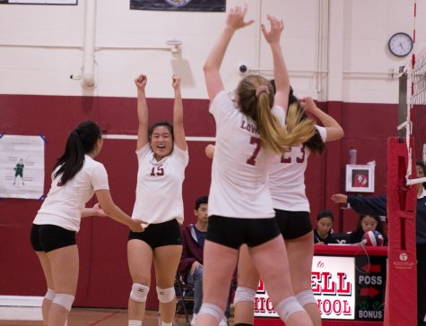 JV girls volleyball crushes the Eagles at Battle of the Birds
