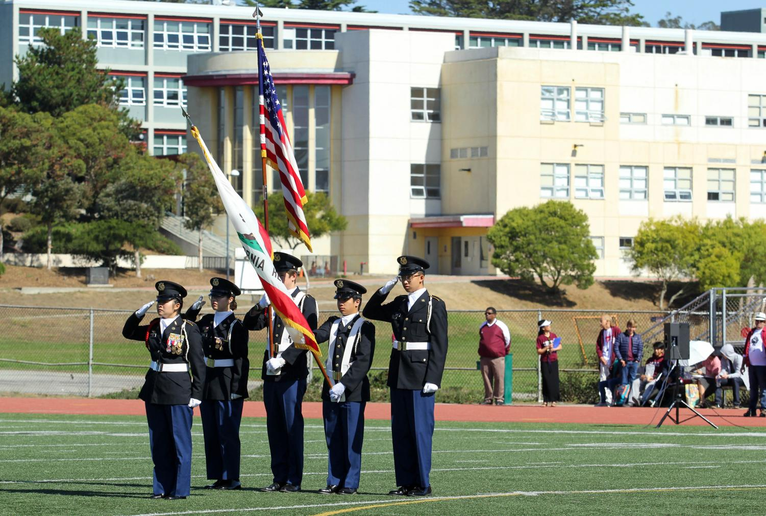 JROTC+presenting+the+flags+at+the+beginning+of+the+rally.