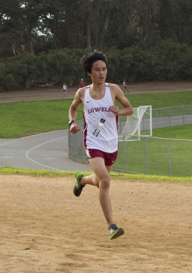 Junior Norton Choy finished in sixth place with a time of 17:08 and set his own personal record.