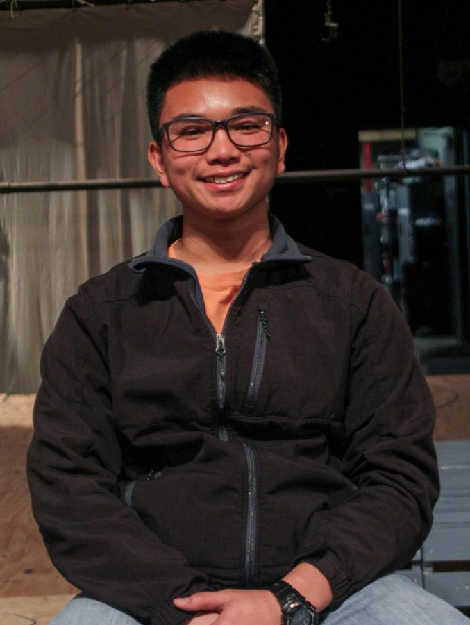 Abdon Lansing, a soloist for the upcoming spring musical.