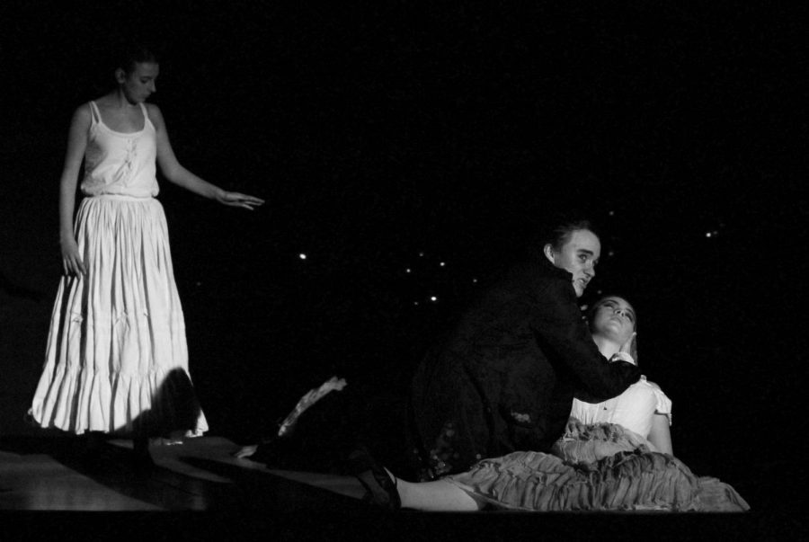 Junior Ariel Anderson, as Sweeney Todd, mourns the death of his wife.