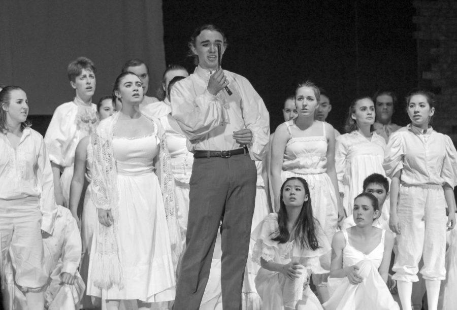 Junior Ariel Anderson, as Sweeney Todd,  sings to his faithful razor.