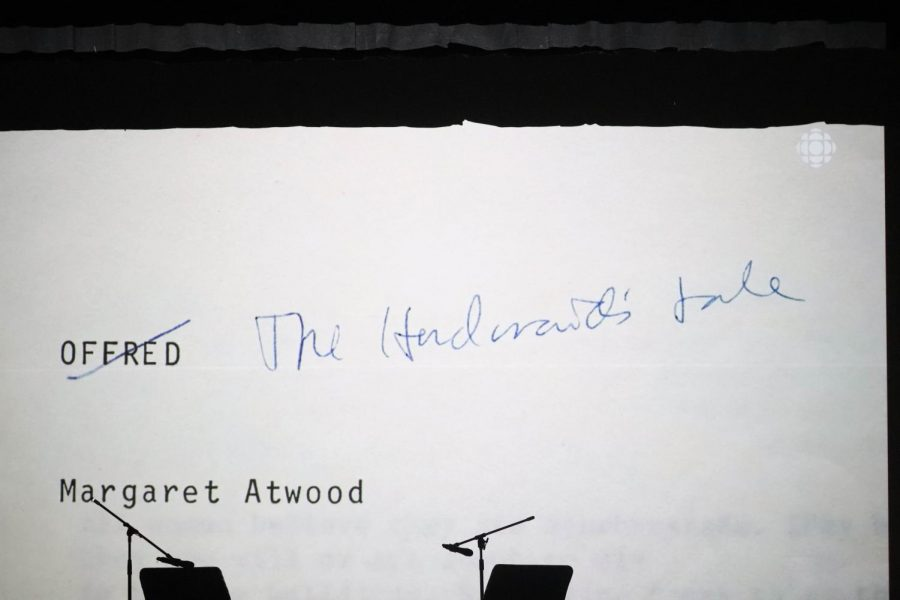 The night began with a video montage showcasing pieces of Atwood's journey writing