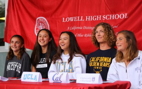 Lowell holds first-ever schoolwide NCAA signing day for five Lowell athletes