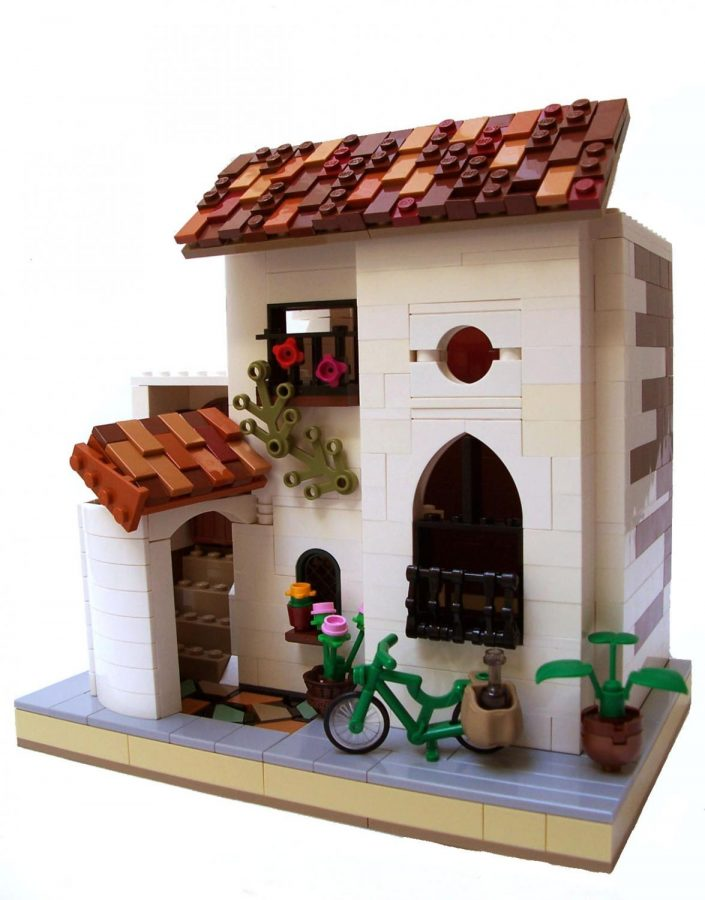 Liang's Spanish-Moorish cottage is one of her favorite pieces.