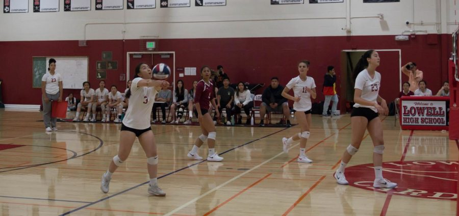 Senior setter and defense specialist Samantha Hum is ready to bump.
