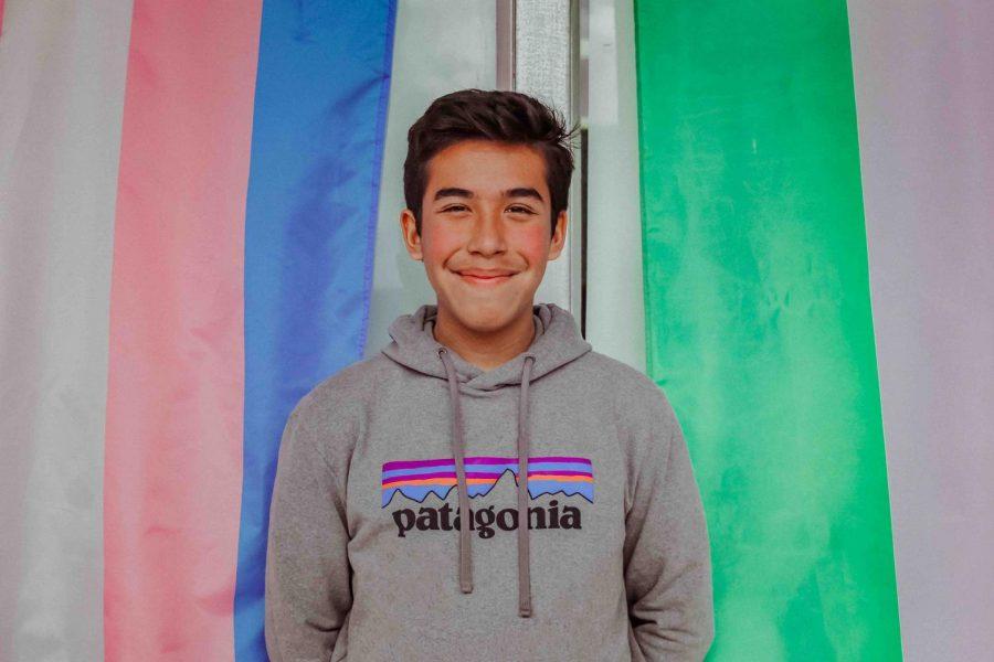 Senior and Events Coordinator Adam Flores identifies as bisexual.