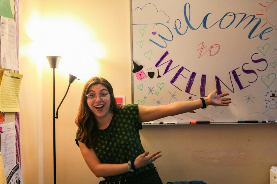 """These groups are safe spaces for students where they can talk about their emotions in a non-judgemental way."""" Wellness Center intern Jocelyn Gutierrez said."""
