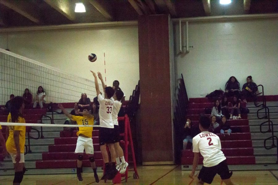 The Cardinals maintain a strong defense indefatigably against the Mission Bears during the game on April 3 at home.