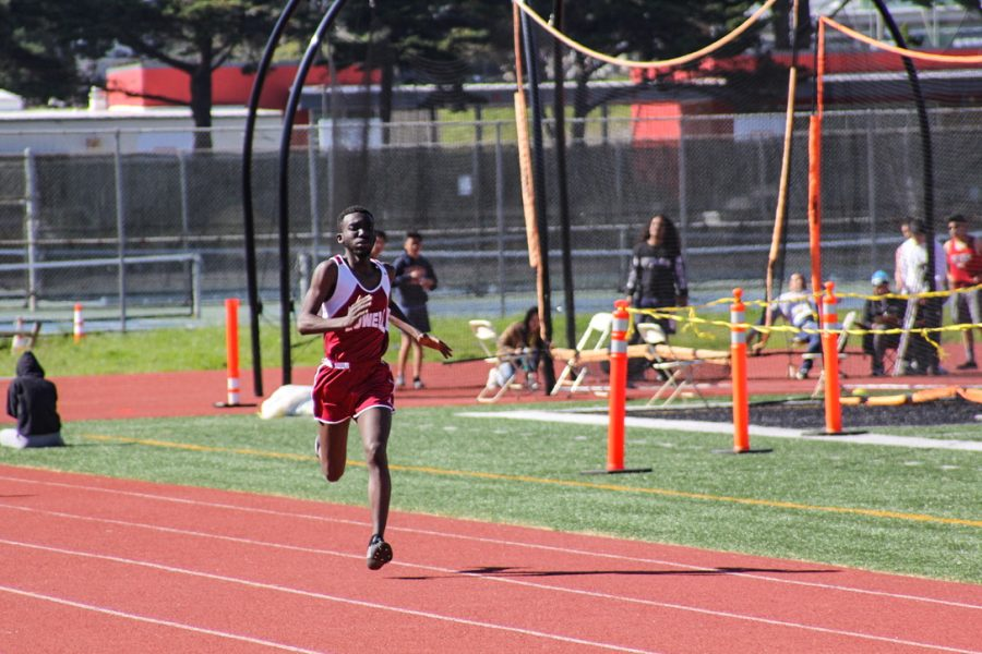 Junior Godfrey Obiero placed third with a time of 24.58 in his heat of the 200m dash.