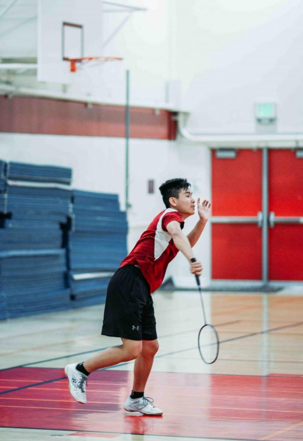 Senior Jacky Lan watches attentively for the next move of his opponent.