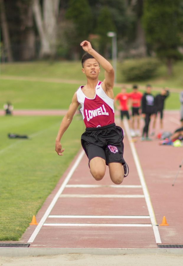 Sophomore Eric Yu placed second in the boys frosh-soph long jump with a jump of 19-01.25