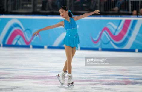 Wang performs her routine at the 2020 Winter Youth Olympic Games