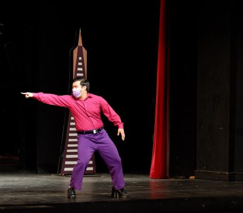 """Colin Cabreros dances as Oberon, King of the Fairies, in Lowells production of """"A Midsummer Nights Dream"""""""
